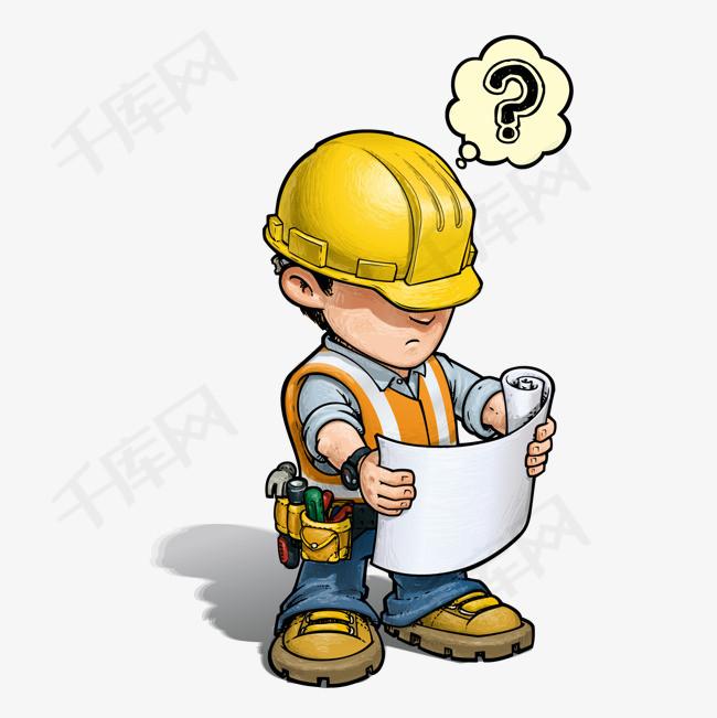 卡通建筑施工人员矢量素材图片