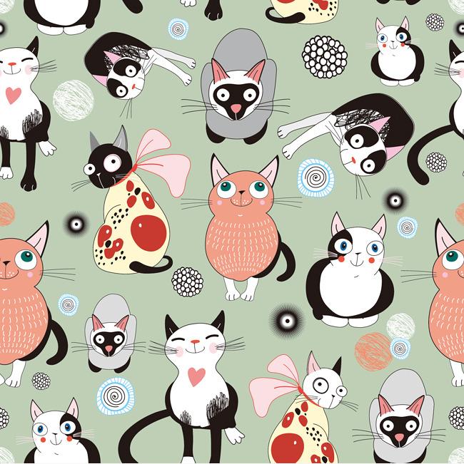 手绘 卡通 小猫咪素材图片免费下载 高清装饰图案psd 千库网 图片编号
