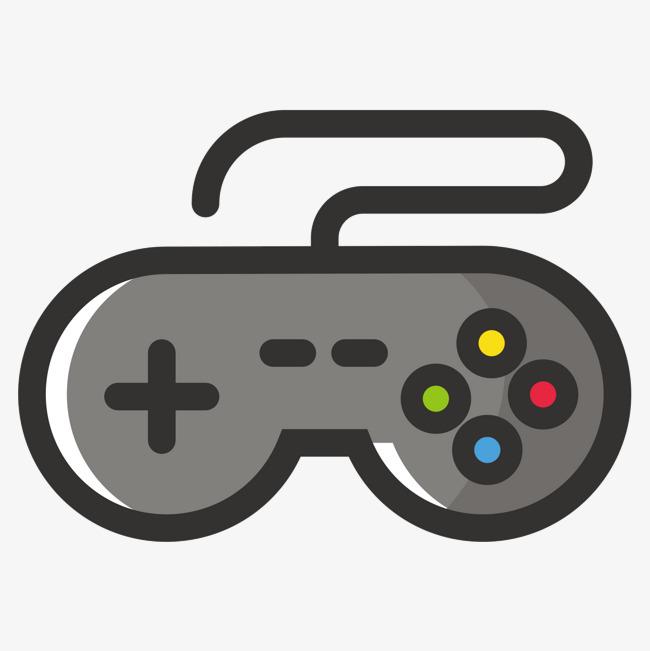 灰色游戏机手柄