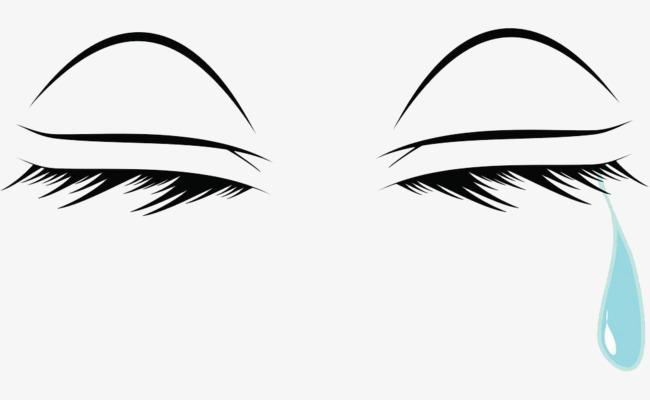 手绘流泪的眼睛