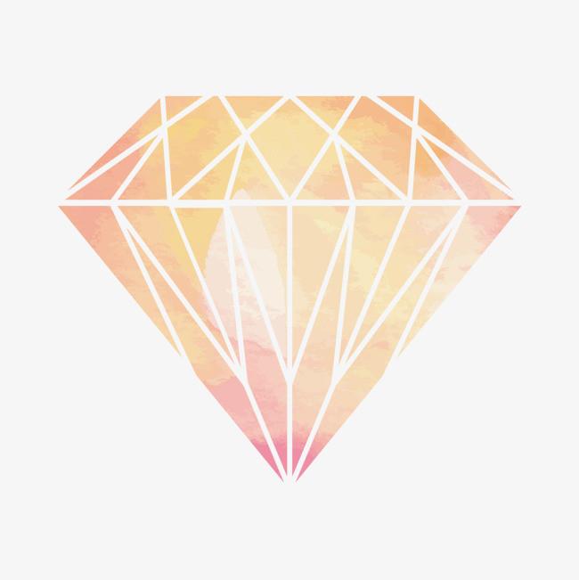 矢量手绘钻石