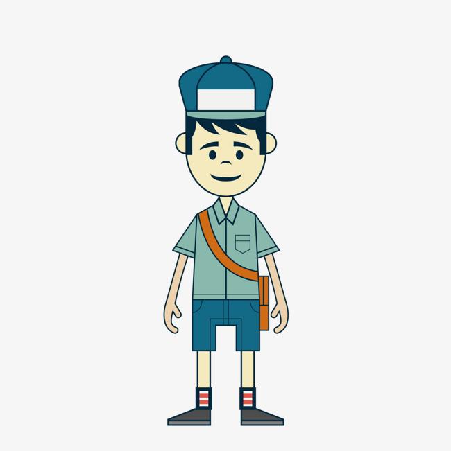 卡通邮递员图片