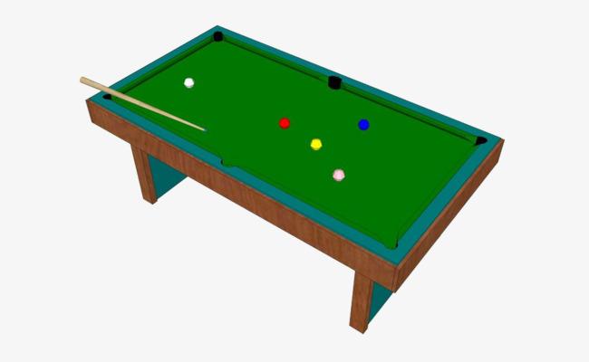 卡通手绘素材台球桌