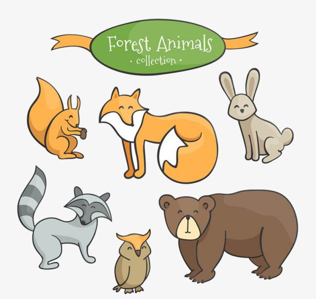 图片 > 【png】 动物大集合  分类:手绘动漫 类目:其他 格式:png 体积
