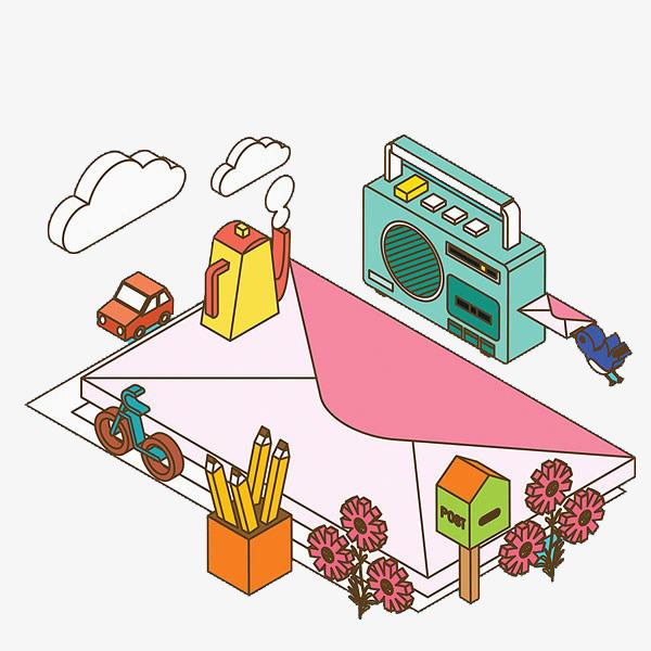 信封和收音机图片