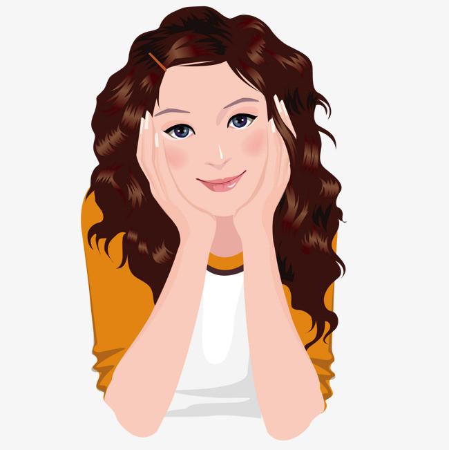 图片 > 【png】 可爱卷发女孩  分类:手绘动漫 类目:其他 格式:png