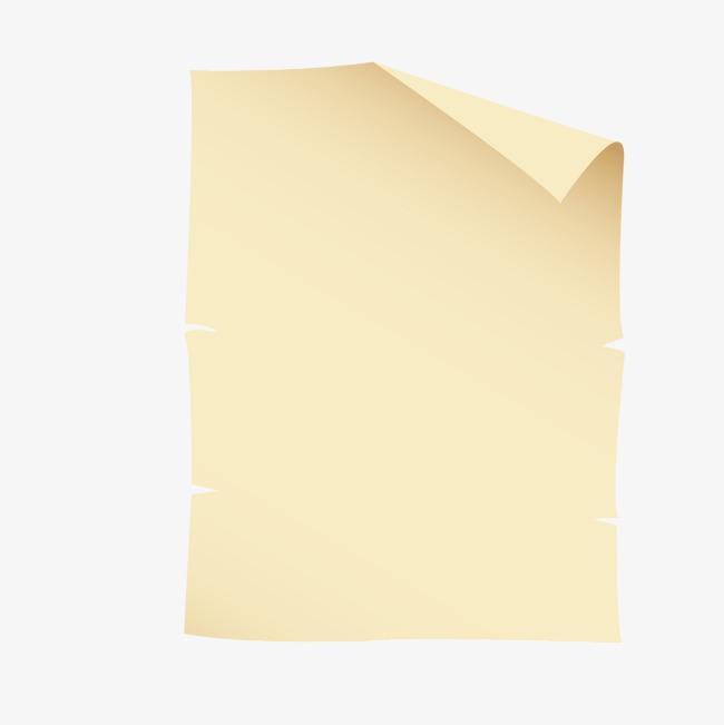 宣纸古风书轴矢量素材