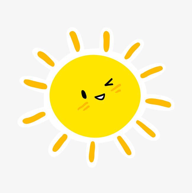可爱卡通黄色太阳