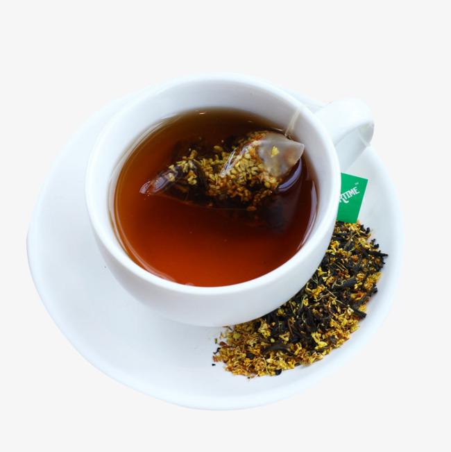 红茶桂花茶素材