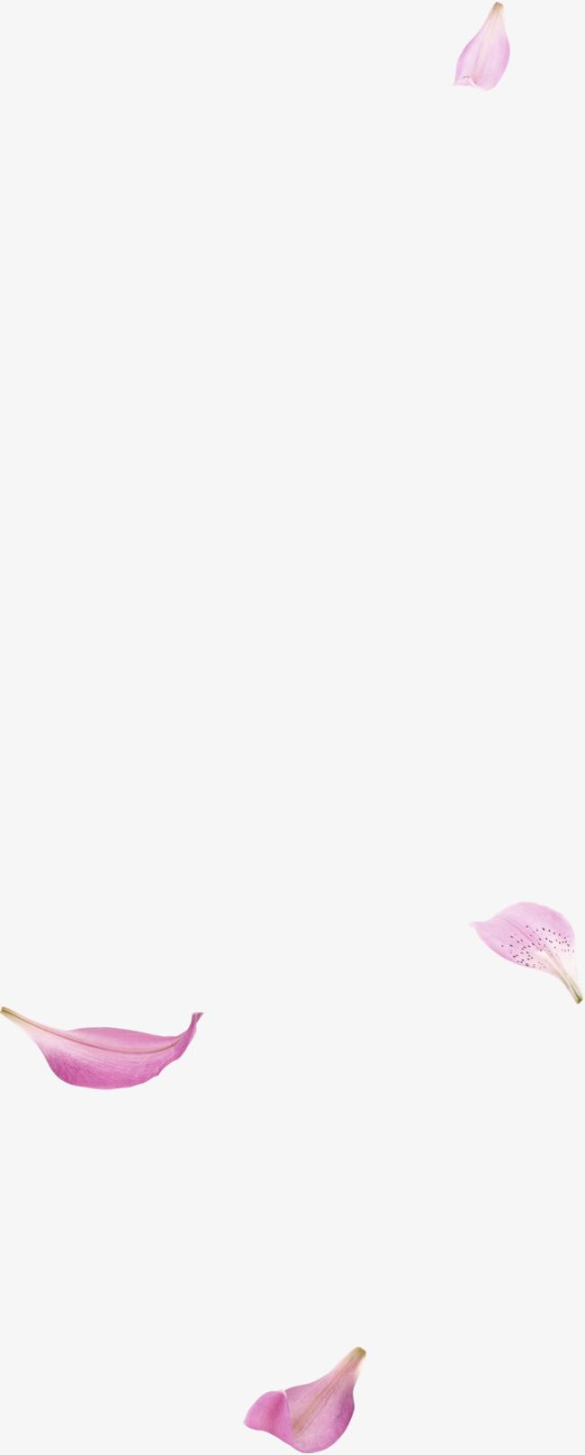 粉色清新花瓣漂浮素材