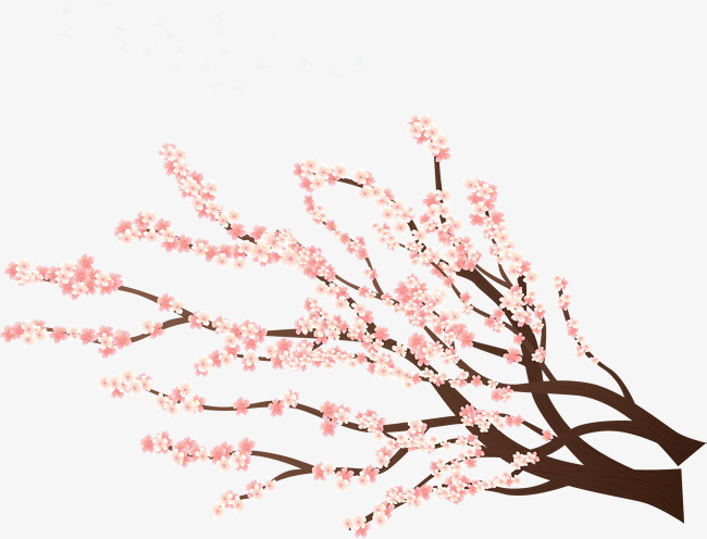 矢量手绘樱花素材图片免费下载 高清卡通手绘psd 千库网 图片编号7360516