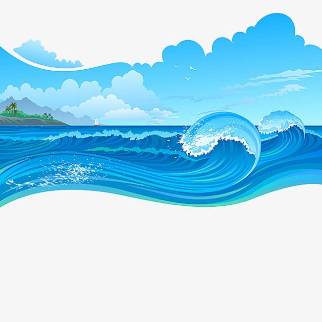 图片 卡通背景 > 【png】 卡通海浪  分类:手绘动漫 类目:其他 格式