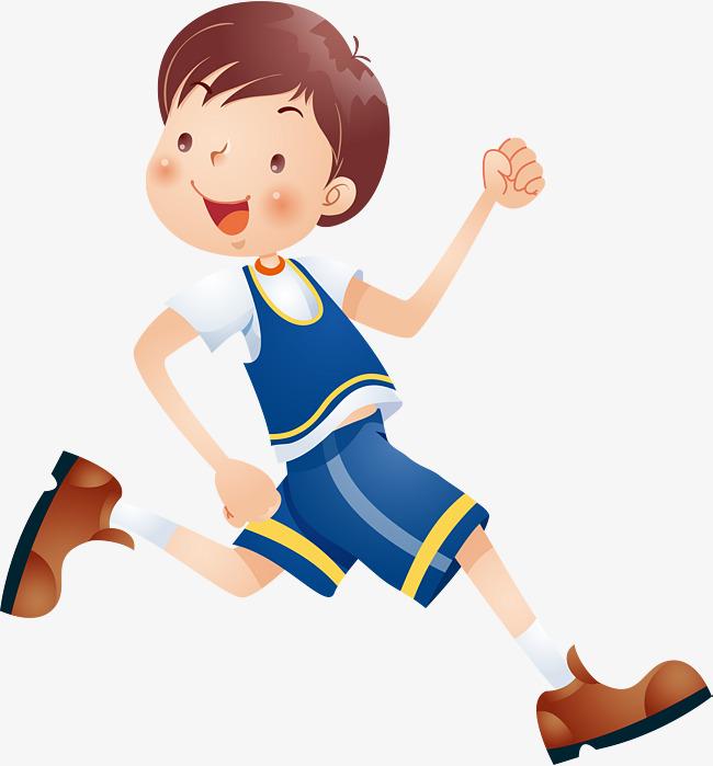小孩跑步卡通图片_跬步图片图片