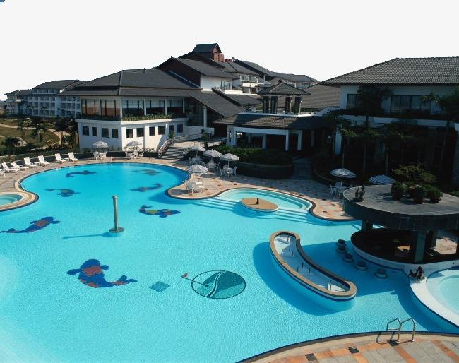 海边别墅游泳池