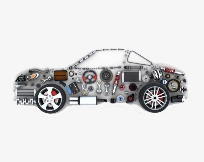 图片 产品实物 > 【png】 汽车零件组成素材免抠