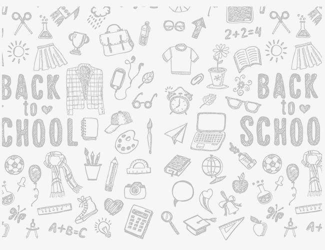 学校元素手绘素描简笔画