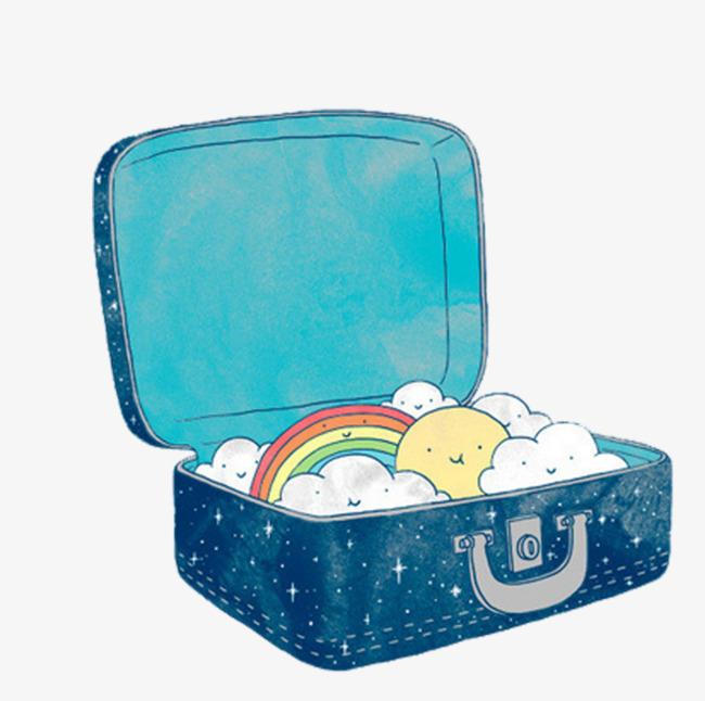 手绘水彩行李箱