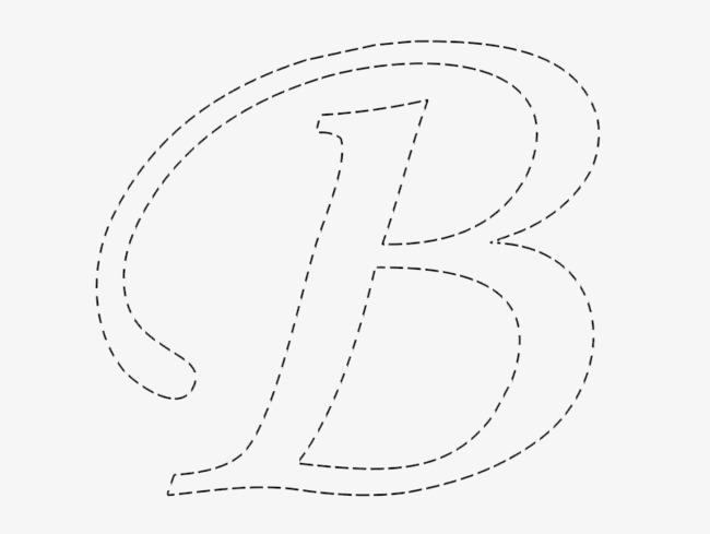 字母虚线圈图片