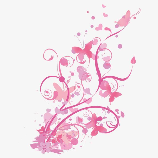 图片 > 【png】 粉色花藤  分类:手绘动漫 类目:其他 格式:png 体积:0