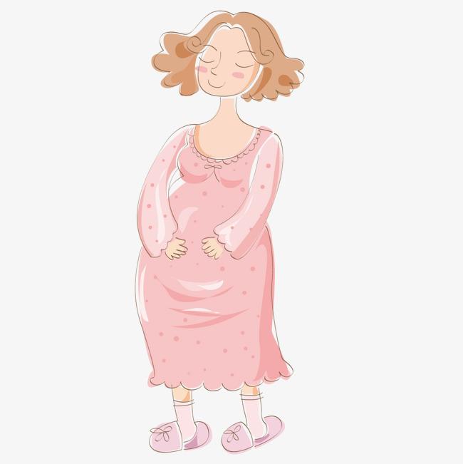 可爱 孕妇 卡通 矢量             此素材是90设计网官方设计出品,均图片