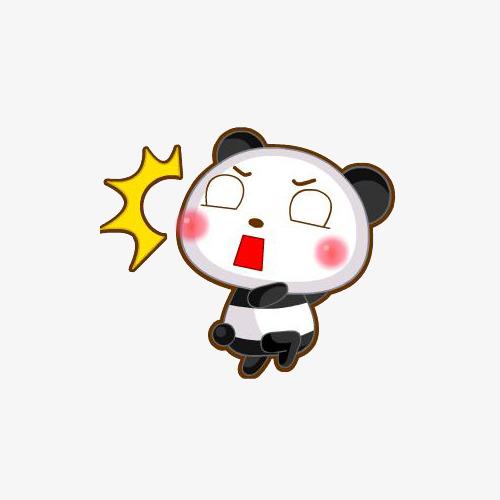 小熊猫惊讶表情图片