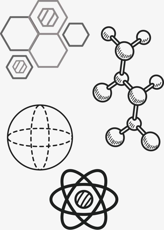 矢量手绘化学元素【高清png素材】-90设计
