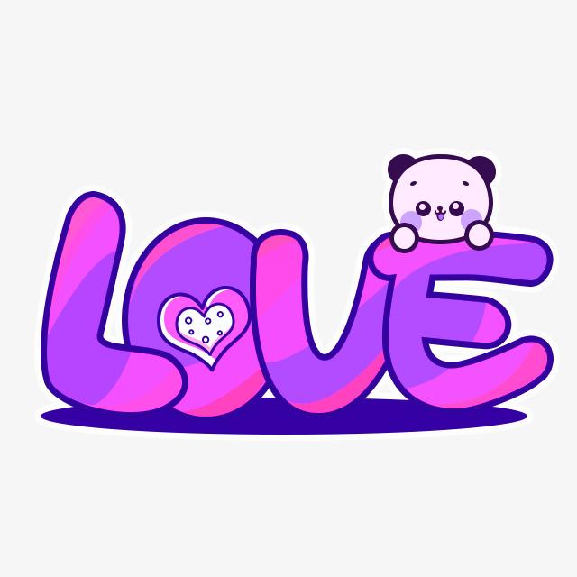 图片 > 【png】 紫色卡通love艺术字  分类:艺术字体 类目:其他 格式图片