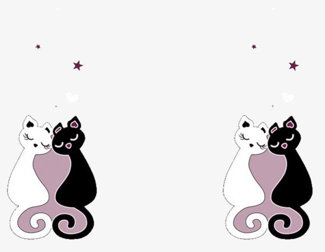 图片 > 【png】 卡通情侣猫  分类:手绘动漫 类目:其他 格式:png 体积