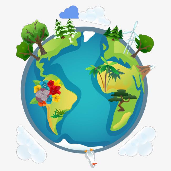 手绘地球图标