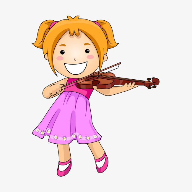 拉小提琴女生图片
