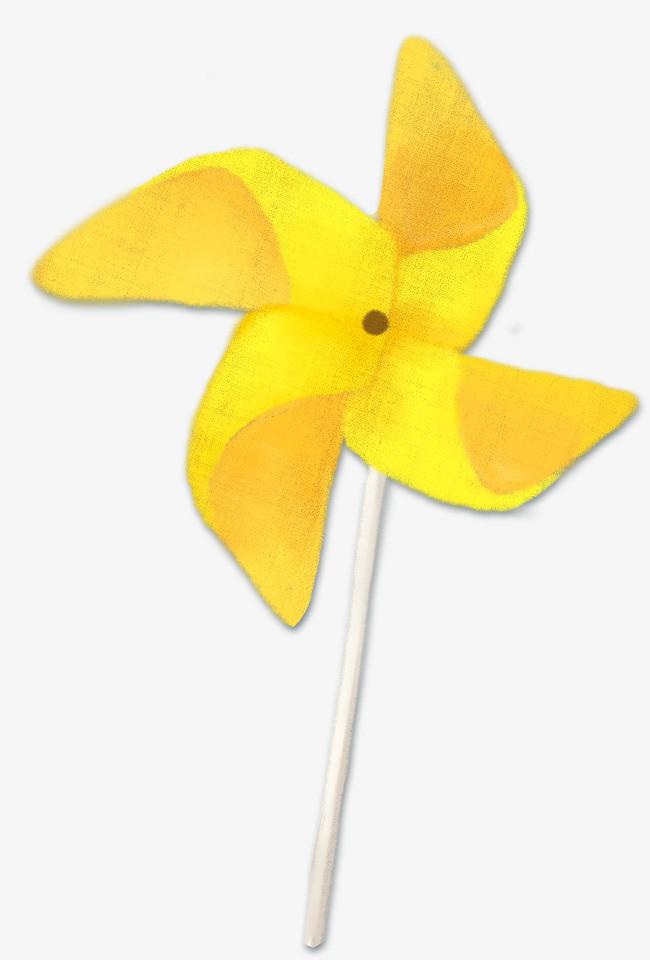 黄色手绘风车