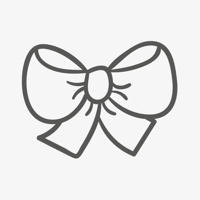 手绘蝴蝶结素材图片免费下载 高清psd 千库网 图片编号109955