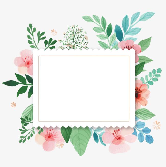 小清新花框素材图片免费下载_高清卡通手绘png_千库网