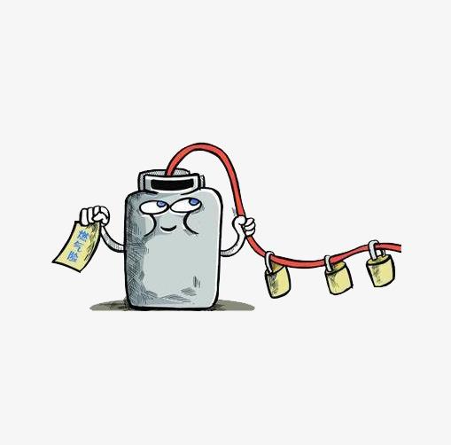 卡通煤气罐锁着图片