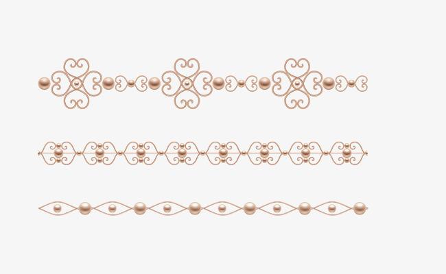 矢量手绘分割线png素材-90设计