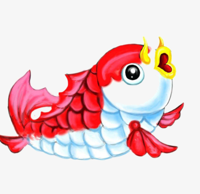 卡通鲤鱼图片
