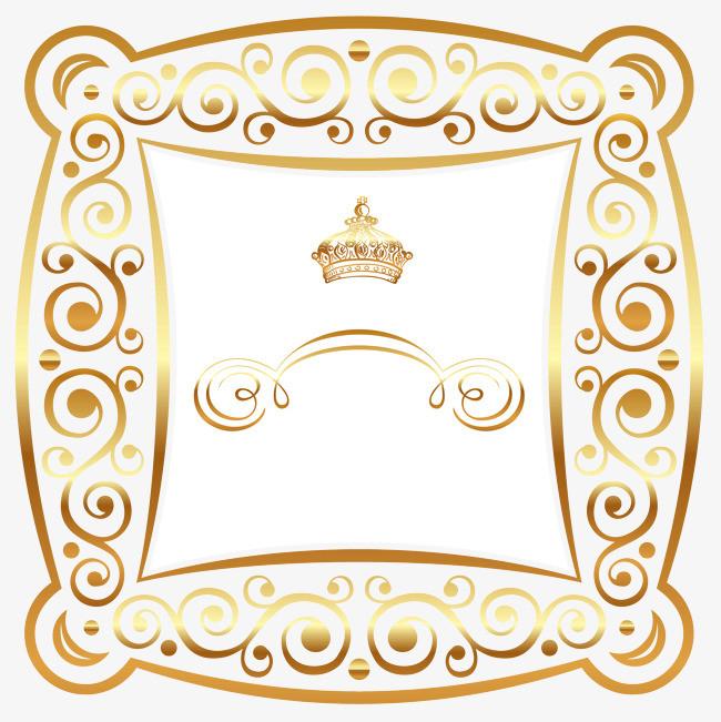 金色欧式边框