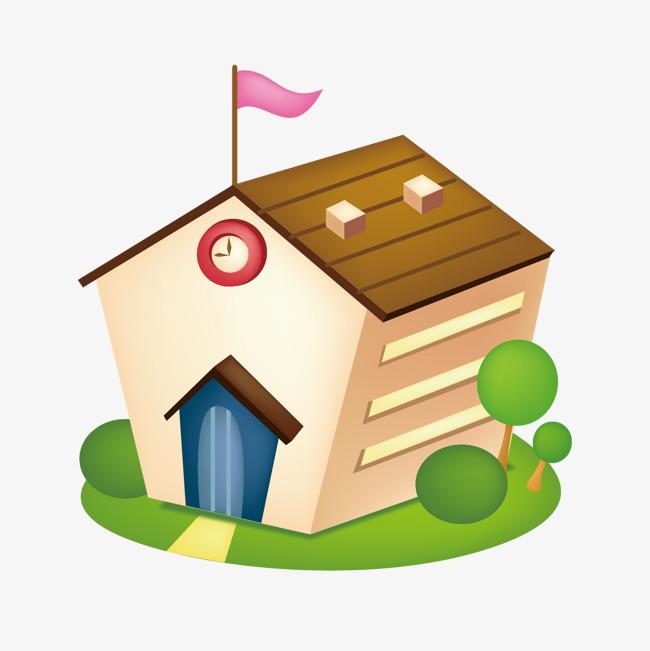 卡通房子 可爱 矢量房子             此素材是90设计网官方设计出品