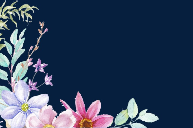 水彩手绘花水彩手绘花碎花植物水彩花花朵边框花卉手绘装饰花卉花朵