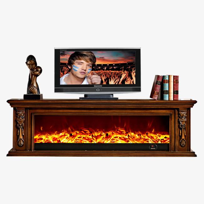 壁炉式电视柜素材