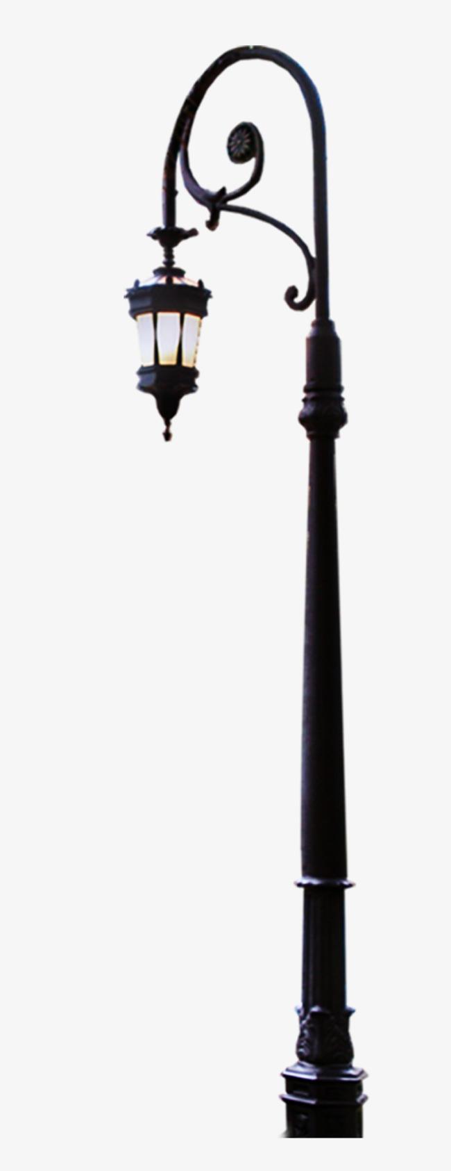 欧式古典路灯装饰图案