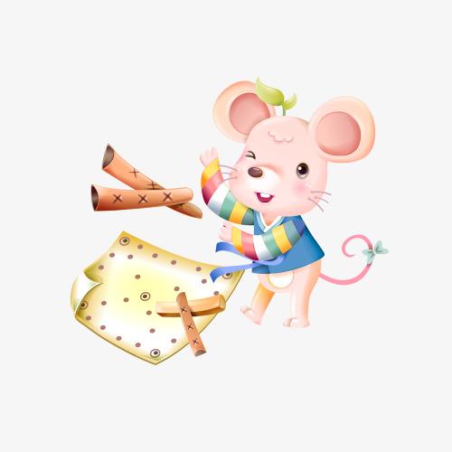 可爱的卡通小老鼠