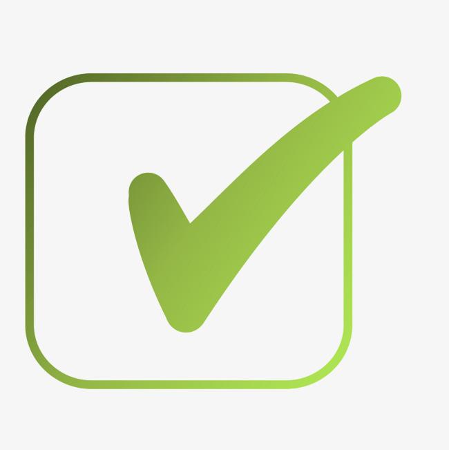 矢量对错符号绿色渐变对号图片背景素材免费下载,图片