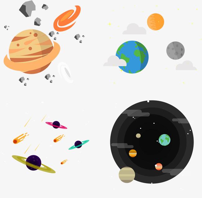 矢量手绘星球