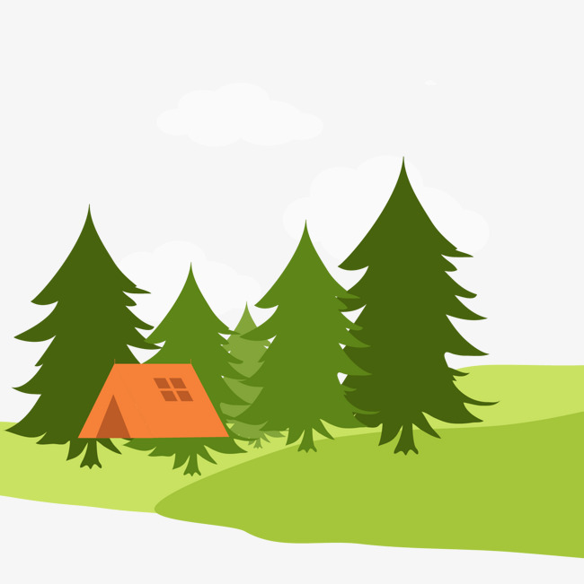 卡通森林野营风景矢量图【高清效果元素png素材】-90