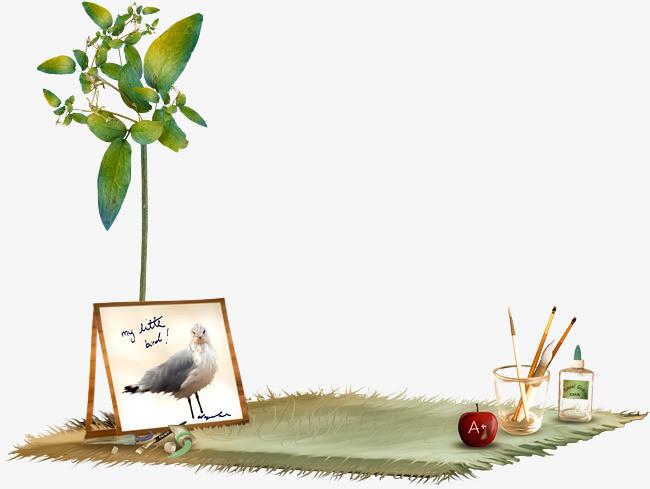 地毯植物画具素材免扣