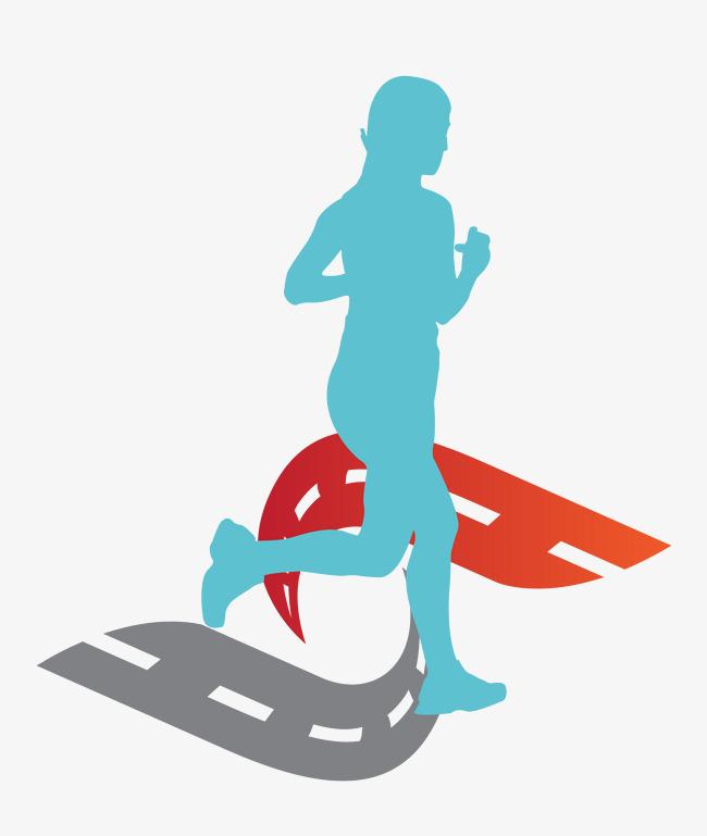 矢量卡通图案长跑人物矢量卡通图案长跑运动人物运动项目长跑跑步的
