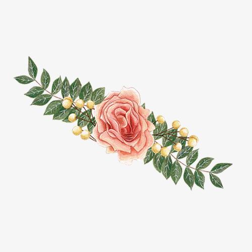 手绘花朵水彩免抠素材