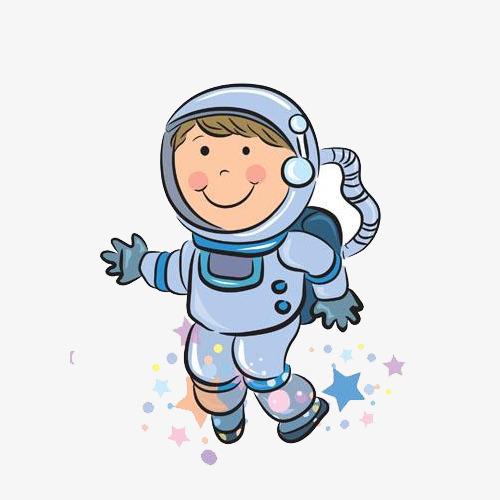 手绘卡通宇航员素材