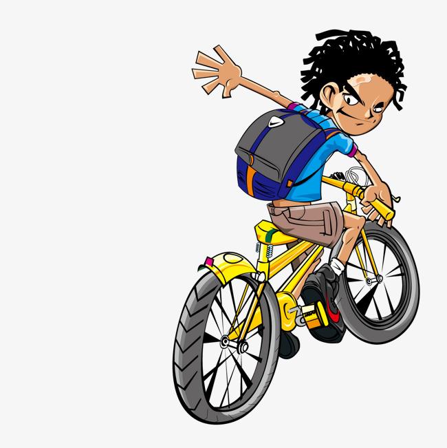 卡通自行车图片素材_自行车创意速写图图片